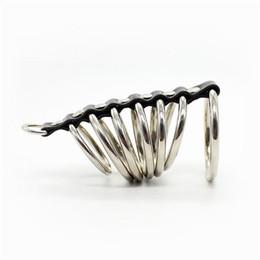Mâle Chastity Device Métal Cock Ring Cage avec Laisse Partie Kinky Play Pleasure Adult Sex Toys pour Hommes Gay gn212472003 ? partir de fabricateur