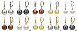 10pcs / 5pair New Femmes 8/10/12 / 14mm Naturel Akoya South Sea Shell perle boucles d'oreilles ? partir de fabricateur