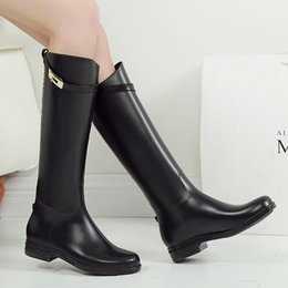 Wholesale rain boots ladies - original brand Women's tall  short lady Rainboots knee high  mid-culf Rain Boot Waterproof Knee Boots Rainboots Glossy Matte Shoes boots