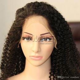 4A Afro Kinky Kıvırcık Dantel Frontal İnsan Saç Peruk 8-18 inç Doğal Renk Virgin İnsan Saç VMAE SAÇ nereden