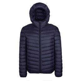 Argentina 2017 chaqueta de invierno de los hombres de la luz ultra delgada con capucha de pato abajo chaqueta collar sólido para hombre abrigos abrigos tamaño de la UE M-3XL Suministro