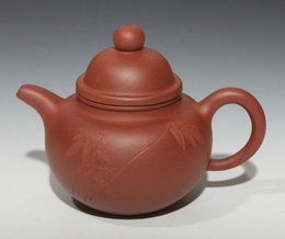 Wholesale Zisha Yixing Teapots - Chinese Yixing zisha teapot handmade clay carving teapot worth collecting!