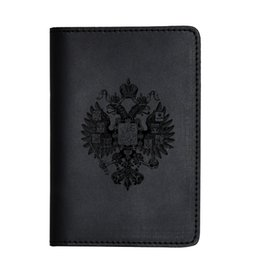 Coin Purses & Holders Cheap Price Russian Oil Gray Double-headed Eagle Convenient Pu Leather Passport Holder Built In Rfid Blocking Protect Personal Information Back To Search Resultsluggage & Bags