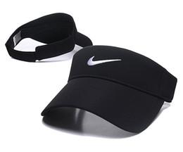 Nuevos Hombres Mujeres Pesca de Caza de Color Sólido Gorras Visor Sombrero Hombre Adulto Mujer Deportes Al Aire Libre Ajustables Visor Caps desde fabricantes
