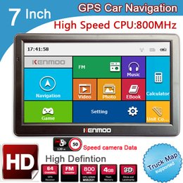 Wholesale map europe russia - New 7 inch HD GPS Car Navigation 800M FM 8GB DDR3 2017 Maps For Russia Belarus  Europe USA+Canada TRUCK Navi Camper Caravan