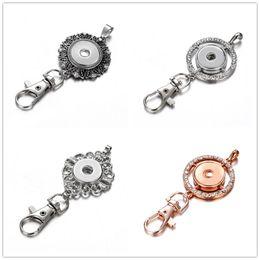 Discount beautiful keychains women - Noosa Silver Gold Snap Button Keychains  Beautiful Jewelry Snap Crystal 18MM da1ef2e9b216
