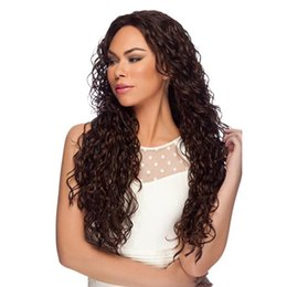 Wholesale Long Real Human Hair Wigs - Real Mueble Espejo Premier Affordable Brazilian Unprocessed Human Hair Lace Frontal Wigs Long Curly Wig 130% Density for African Americans