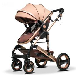 Il passeggino per neonati Wisesonle può essere piegato in alto in una sospensione a due vie a quattro ruote e un passeggino per auto in BB da