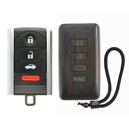 2019 acura key Reemplazo del mando a distancia de reemplazo de la carcasa del llavero del coche de palisandro para Acura ILX RDX TL ZDX (batería de placa de circuito excluida) acura key baratos