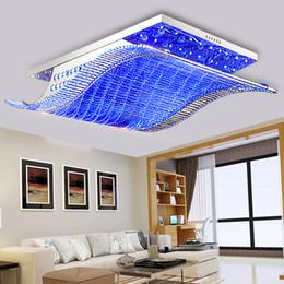 2019 luci a soffitto in cristallo di ferro Moderno LED K9 luci di soffitto in cristallo di ferro Lustre lampada lampadario pendente luci apparecchio di illuminazione per la casa soggiorno luci a soffitto in cristallo di ferro economici