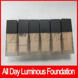 Base cosmética on-line-2018 Nova maquiagem todos os dias Luminous Weightless Foundation cosméticos 1FI. Oz. 30mL 6 Cores Base de Maquiagem Rosto Corretivo frete grátis