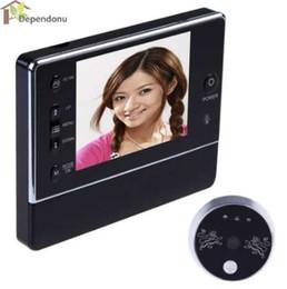 """Visualizzatore porta digitale senza fili online-3.5 """"LCD Wireless digitale da 120 gradi Campanello Peephole Interfone Viewer DVR DVR Visione notturna 3 X ZOOM Display LCD Campanello"""