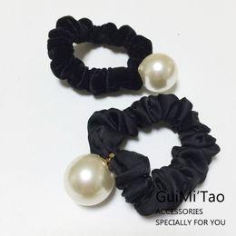 Accesorios directos para el cabello online-Cuerdas de cabeza de alta calidad de las mujeres con grandes cuerdas de pelo de perla Elasticity Resuable accesorios para el cabello Venta directa de la fábrica 14 8gm BB