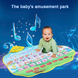Wholesale Animal Sounds Music - Wholesale-Russian Alphabet Play Mat Music Animal Sounds Educational Learning Baby Toys Play Mat Carpet Gift for Children Kids 73 * 49CM