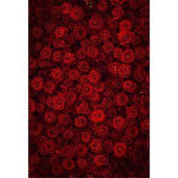 rotes 3d rosafarbenes gewebe Rabatt Digitaldruck 3D Red Rose Hintergrund Fotografie Hochzeit Romantischen Valentinstag Kinder Kinder Mädchen Fotostudio Hintergründe Vinyl Stoff