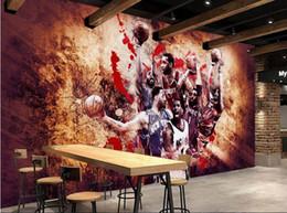 Personnalisé 3d photo papier peint art mural papier peint étoile de basketball Bar outils fond de fond d'écran ? partir de fabricateur