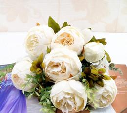 paeonia suffruticosa Sconti Europeo Paeonia suffruticosa simulazione fiore autunno colore simulazione peonia fiore 13 casa decorazione di nozze fiore finto L550