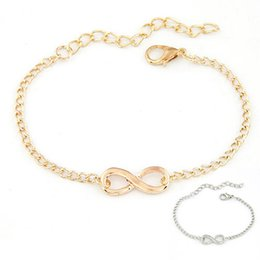 Wholesale Infinity Bar - Wholesale- Gussy Life New Women Men Handmade Gift Charm 8 Shape Jewelry Infinity Bracelet pulsera Dec1