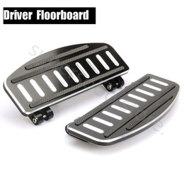 Wholesale Cnc Insert - CNC Driver Footboard Insert Kit For Harley Touring 86-18 floorboards Softail 86-18