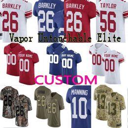 9332a5638 custom Men Youth women New York 26 Saquon Barkley Eli Manning Lawrence  Taylor Giants Camo Salute to Service Elite Jersey