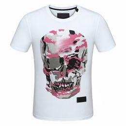 Wholesale Mens Tshirt Shirt - 2018 New Fashion Skulls Printed Mens Tshirt Fashion Men T Shirt Short Sleeve Round Neck Casual Cotton T-shirt