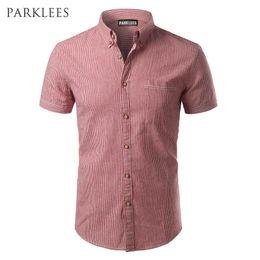 e7a51edd2ffb Striped Shirt Men 2017 Brand New Design Short Sleeve Mens Dress Shits 100% Cotton  Casual Button Down Mens Shirts Plus Size 4XL