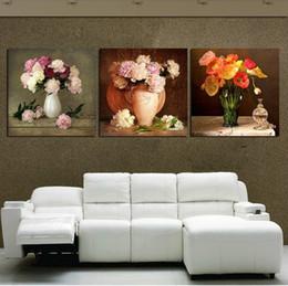 2019 abstrakte leinwand gemälde zum verkauf No Frames 3 Stück Leinwand Wandkunst Bilder zum Verkauf Wohnzimmer die Gemälde bunte moderne abstrakte Malerei Ölfarbe Blumen rabatt abstrakte leinwand gemälde zum verkauf