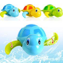Wholesale tortoise toys - New Fashion Newborn Cute Cartoon Animal Tortoise Baby Bath Toy Infant Swim Turtle Chain Clockwork Classic Toys Kid Educational Toys