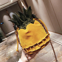 Wholesale Large Pineapple - Oxford Thick Pineapple Handbags For Women Shoulder Bag Totes Kawaii Budalaa Women Messenger Bags Large Capacity High Quality