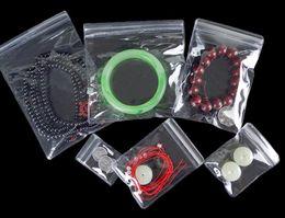 Wholesale Thick Zip Bag - 100pcs Self Sealing large Plastic pvc Zip Lock Bag Thick Clear Ziplock Earrings Jewelry Packaging pvc Bag