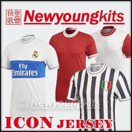 Wholesale icon shorts - 2018 19 Real Madrid Icon Jersey Baye white man red Special edition retro Football uniforms RONALDO MULLER BENZEMA ROBBEN DYBALA soccer shirt