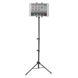 Wholesale tablet tripod stand - New 7-10inch Adjustable Tablet Tripod Mount Holder Stand For iPad1 2 3 4 Air Mini Universal Tablet Stand Holder For Samsung