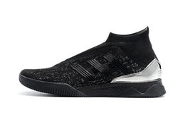 sapatos de futebol meias Desconto Adidas Mens tango predador 18 + TR Pogba Sapatos de Futebol de Alta Qualidade TF IC Sapatos de Futebol Mais Barato Chuteiras de futebol