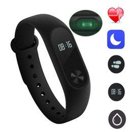 Wholesale watch band packaging - M2 Smart Bracelet smart watch Heart Rate Monitor bluetooth Smartband Health Fitness Smart Band for Android with package