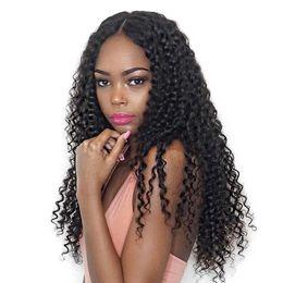 Wholesale Extension Human Hair Curly Micro - Crochet braid Brazilian Kinky Curly Human Hair Weft 3 Bundles 100% Brazilian Curly Human Hair Extensions Afro Kinky Curly for Micro Braiding