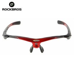 Solo cornici per vetri online-ROCKBROS Bicicletta da bicicletta Bicicletta Occhiali da sole montatura Occhiali da vista Telaio per bicicletta Le attrezzature per biciclette includono solo la montatura per occhiali da sole