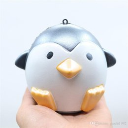 Wholesale Foam Safe - PU Simulation Penguin Shape Squishy Safe Non Toxic Foam Toy For Home Cupboard Decoration Squishies White Black 9 5cr BR