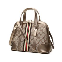Sac Lady Shell pour l'automne 2018, un nouveau sac en toile vintage avec un sac bandoulière à l'épaule imprimé de style européen ? partir de fabricateur