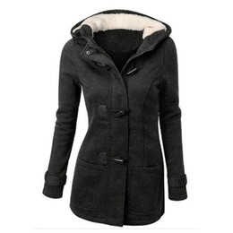 Wholesale Outerwear Ladies Wholesale - Hot Sale Women Jacket Clothes New Winter 7 Color Outerwear Coat Thick Girls Clothes Lady Clothing With Hooded Plus size