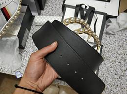 cinturones de oro Rebajas Diseñador de Marca de Lujo Cinturón de Cuero de Los Hombres de Las Mujeres de Oro Hebilla de Perla Hebilla Hecha A Mano de Alta Calidad 125 cm Casual Belt Jeans Fiesta de Moda Pa