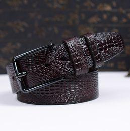 ремни для крокодилов Скидка 2016 New Arrival Men Belts Fake Crocodile Skin Male Strap High Quality Cow Leather Fashion Men Waistband  Belt for