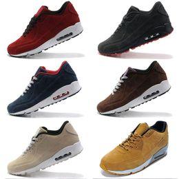 the best attitude fdd61 cde9a Nike Air Max 90 VT Bottes en cuir suédé AM 90 VT Hommes Hiver Sneakers Chaussures  Homme Sneakerboots Chaussures de marche Zapatillas 7 Couleurs Taille 40-45