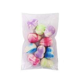 Esponja corretiva on-line-4/6/10 Pçs / pacote Colorido Mini Maquiagem Fundação Esponja Puff BB Creme Blender Blusher Corretivo Flawless Cosméticos Ferramentas Kit Presente