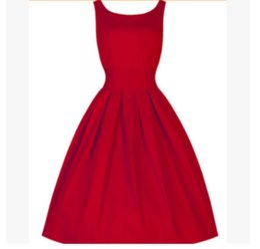 Discount large tutus - Fashion*1 Retro Hepburn Wind 50s Waist Slim Large Sleeve Tutu Dress