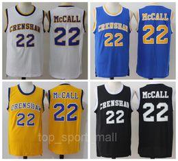0f42566c62b 2016 CRENSHAW 22 Quincy McCall Jersey Movie Flint Tropics Semi Pro Quincy  McCall Basketball Jerseys Sport Breathable Yellow White Black Blue