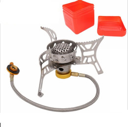 Wholesale folding camping stoves - Folding Outdoor Gas Stove Camping Stoves Portable Gas Electronic Stove with Box Portable Foldable Split Stoves 3000W