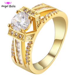 Wholesale Kc Gold Plating - Hot - Pryme 925 KC Gold Ring High Quality Hand Made Stackable Ring For Women Party Wedding Engagement Clear CZ Ring