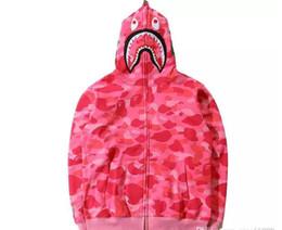 Wholesale Slim Mouth - New Men's women Lovers Sportwear Coat Jogger Tracksuit Zipper Fleece Sweatshirt Crewneck Bird OVO Drake Black Hip Hop Hoodie Men Shark mouth