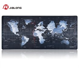 Wholesale world map high quality - Original JIALONG World Map High Quality Non-slip Large Paern Gaming Mouse Pad Gaming Mouse Mat Mousepad for Men Gamer Gift