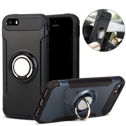 cellphone ring case Coupons - For iPhone XR XS Max Cellphone Case with Ring Holder Kickstand Back Cover Case Rugged Dual Layer Case for Samsung Note9 S9 Plus
